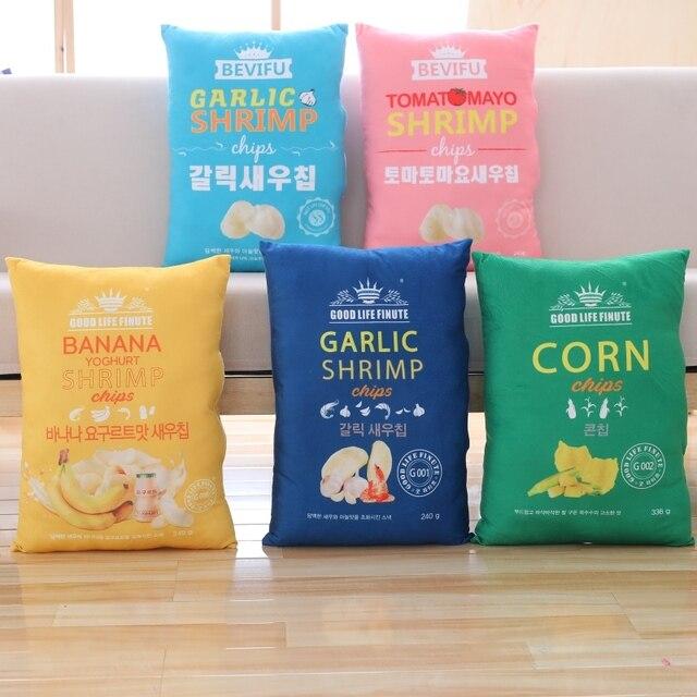 Azoo Soft Washable Plush Pillow Sofa Cushion Stuffed Korea Various Potato Chips Birthday Festival