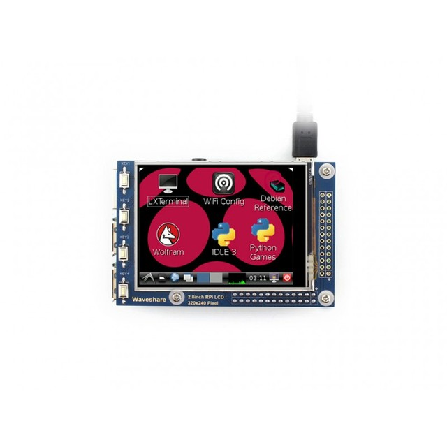 Waveshare Новые 2.8 дюймов Резистивный Сенсорный TFT LCD Экран 320*240 предназначен для любой пересмотр Raspberry Pi 3 Модель b/2 B/B +/B