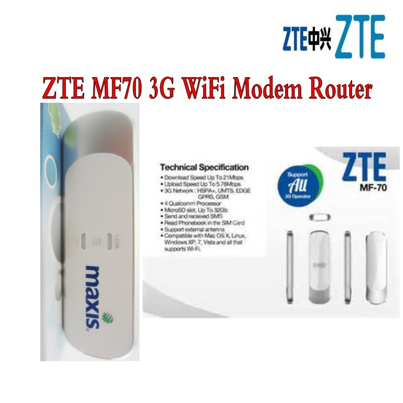 MINI 3G Mobile Hotspot <font><b>ZTE</b></font> <font><b>MF70</b></font> +10 devices share online with antenna image