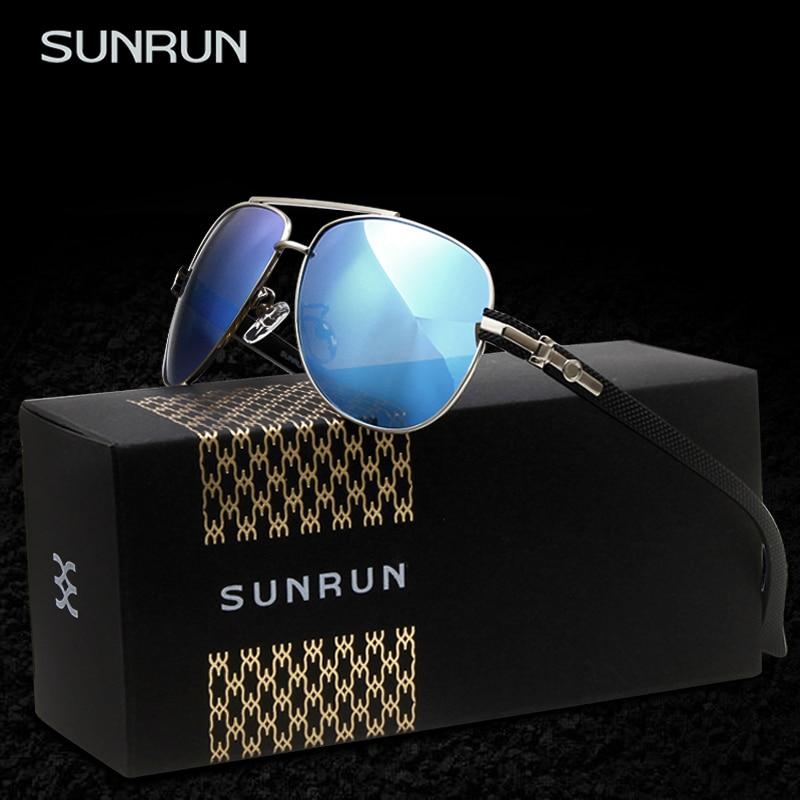 Homens Dos óculos de sol Espelho polarizado óculos de Sol Os Designers  SUNRUN Masculino Óculos oculo de sol feminino 9397 e7acb7287f
