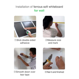 Image 5 - Wall Sticker Soft Erasable Magnetic Whiting board Flexible Whiteboard Stickers Hold Magnets Wall Decor Kids Room Home Decoration