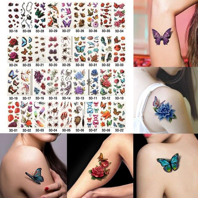 6 лист(ов) здоровье красота боди-арт временные татуировки золотой вспышкой металлик татуировки наклейка хна женщины ювелирные изделия татуировки водонепроницаемые