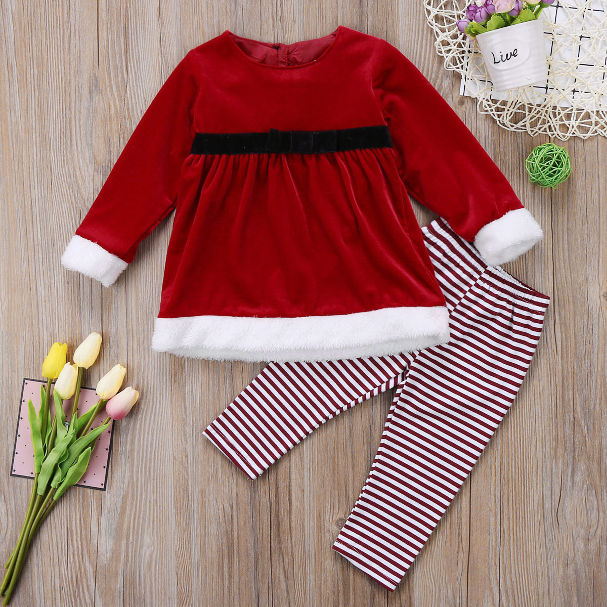 Toddler Kid Baby Boy Girl Top Sweater Dress Pants Xmas Outfit Clothes pudcoco0-4Y Baby Boys Girls Warm winter autumn XMAS xmas santa claus 1st brown top baby girl pettiskirt outfit 1 8y mapsa0036