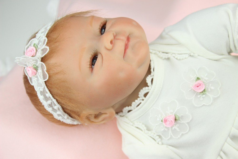 NPK 43CM Real Silicone Body Girl Reborn Baby Girl Doll Toys Realistic Newborn Princess Babies Fashion