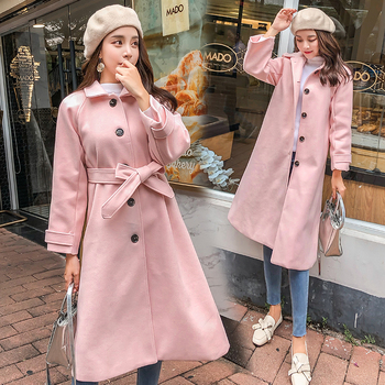 Autumn #Winter Cape #Coat Women Korean Thick Wool Coat Female Elegant #Jackets Long Sleeve Solid #Outerwear #fashion #boygrl