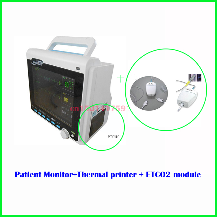 CMS 6000 (CMS6000 ) Contec CMS6000 Multi-Parameter Patient Monitor, ETCO2, EG, NIBP, SPO2, Respiration, Temperature Vital Signs