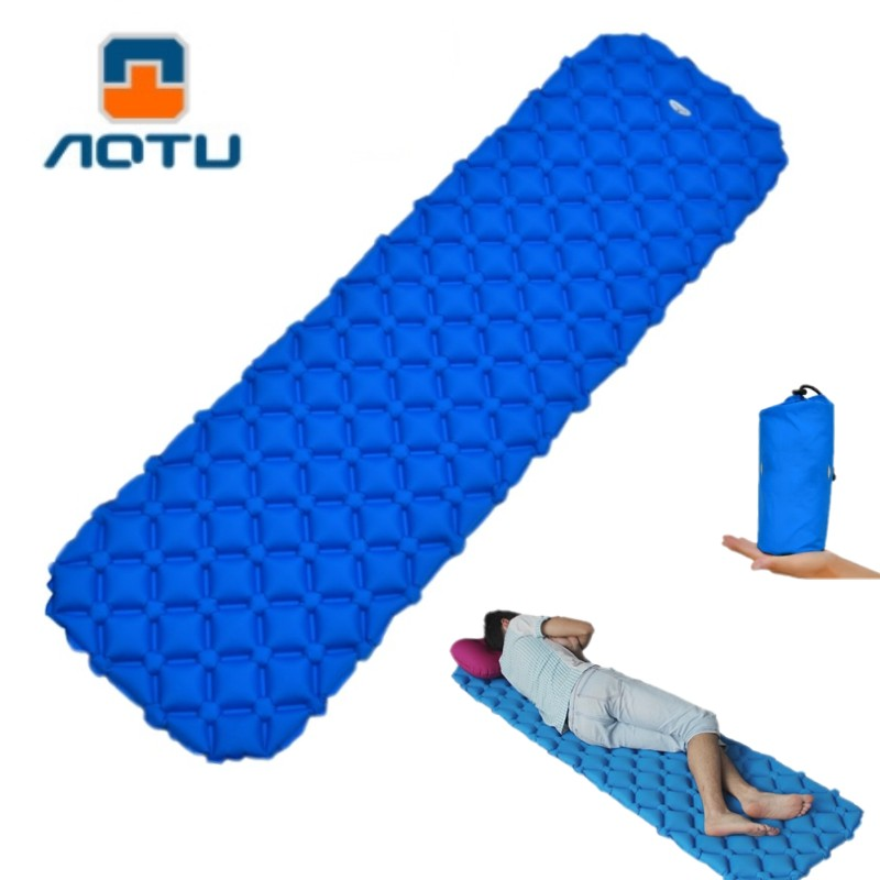 Ultralight Air Mattress Inflatable Bed for Portable Sleeping Pad Air Bed Moistureproof Pad Waterproof Outdoor Camping Tent Mat ultralight inflatable mattress bed portable folding outdoor camping mat air mattress sleeping pad with pillow
