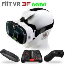Fiit VR 3F Mini Virtual Reality 3D Glasses Helmet VR 3D Movie Glasses Headset Box Cardboard for 4.0-6.3″Smartphone+Controller