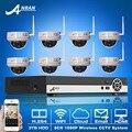 8CH H.264 NVR Onvif P2P Wireless CCTV Sistema + 8 UNIDS 3 TB HDD 1080 P HD A Prueba de Vandalismo Cámara Domo IR de la Red WIFI Seguridad Para El Hogar conjunto