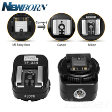 Pixel TF 334 อะแดปเตอร์รองเท้าร้อนสำหรับแปลง SONY Mi A7 A7S A7SII A7R A7RII A7II กล้อง Canon Nikon Yongnuo แฟลช SPEEDLITE