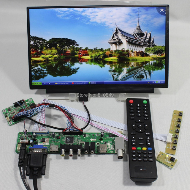 TV/PC/HDMI/CVBS/RF/USB LCD control board + 11.6 polegadas N116HSE-EJ1 1920*1080 IPS LCD