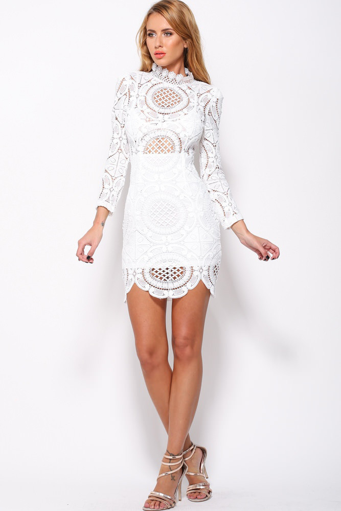 Aliexpress.com : Buy Sexy Club Dress 2017 Summer White Crochet ...