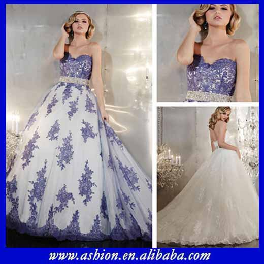 Free shipping WE 2415 Beautiful shanghai wedding dress royal blue ...