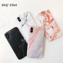 For iphone X case Marble Phone Case for 7 8 Plus Scrub Silicone soft 6 6s plus Simple TPU Cover
