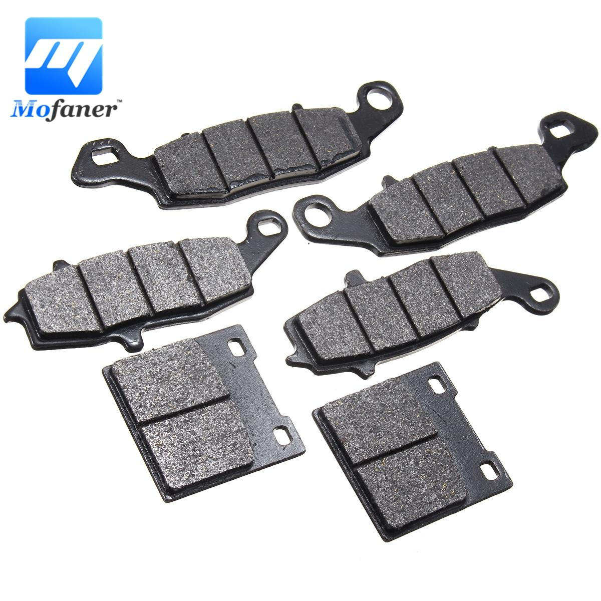 6Pcs/Set Motorcycle Brake Pads Front + Rear For Suzuki GSX750F 1998-2002 Katana FW FX FY FK1 FK2 motorcycle front brake disc rotor for suzuki gsx 600 f 1989 1990 gsx 750 f katana 1998 1999 2000 2001 2002 2003 gold