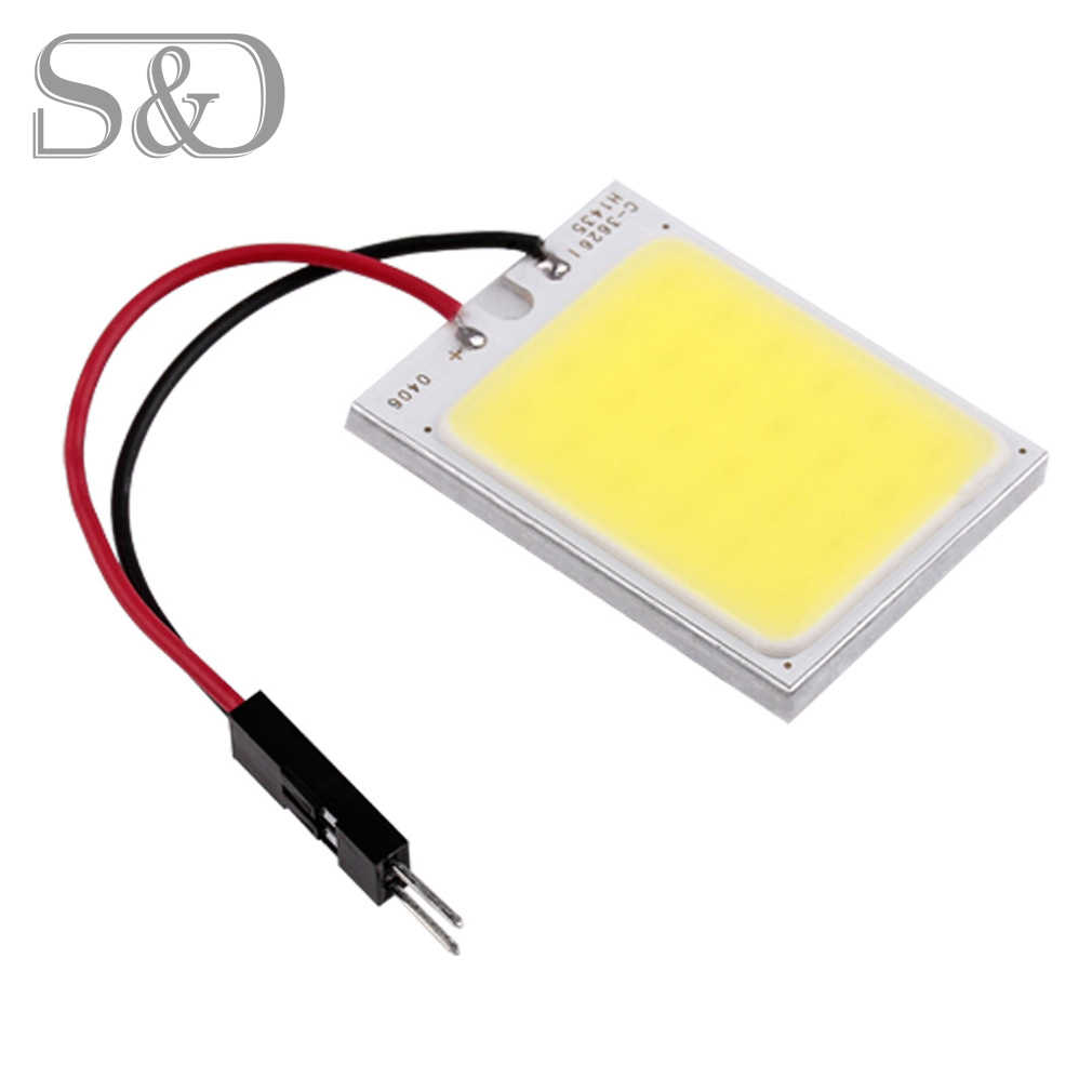 24 COB LED Car Panel Interior Light T10 Festoon Dome Adapter W5W C5W Car LED bulbs Reading lamp car light Auto Lamp 12V