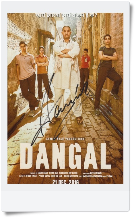 signed Aamir Khan autographed original photo Dangal 7 inches collection freeshipping 062017