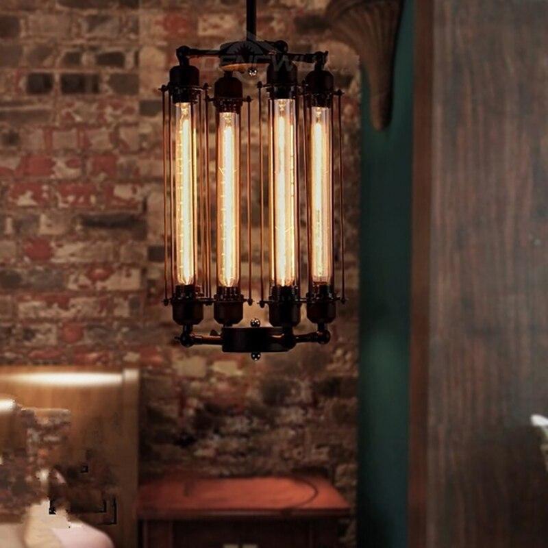 Vintage retro black 4 heads fixture ceiling pendant lamp loft E27 220V for Kitchen Lights Living/dining room/parlor/bar/cafe