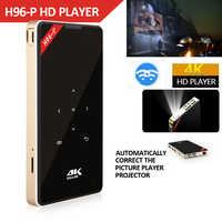 Hotsale H96-P Mini DLP 4 k Projecteur Quad Core Android Portable Home Video Theater Bluetooth HD-IN 5g WIFI TV Box 2gb 16g