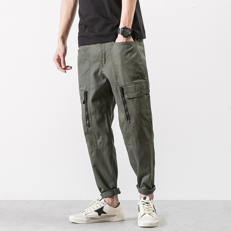 Autumn 2017 Men brand Clothing Military Cargo Pants Army Green black baggy Pants Cotton Trousers for men Sweatpants Big Size 2XL