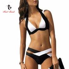 Nádherné dámske dvojdielne plavky nielen v čiernobielej farbe