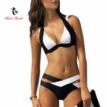 Nádherné dámské dvoudílné plavky nejen v černo-bílé barvě