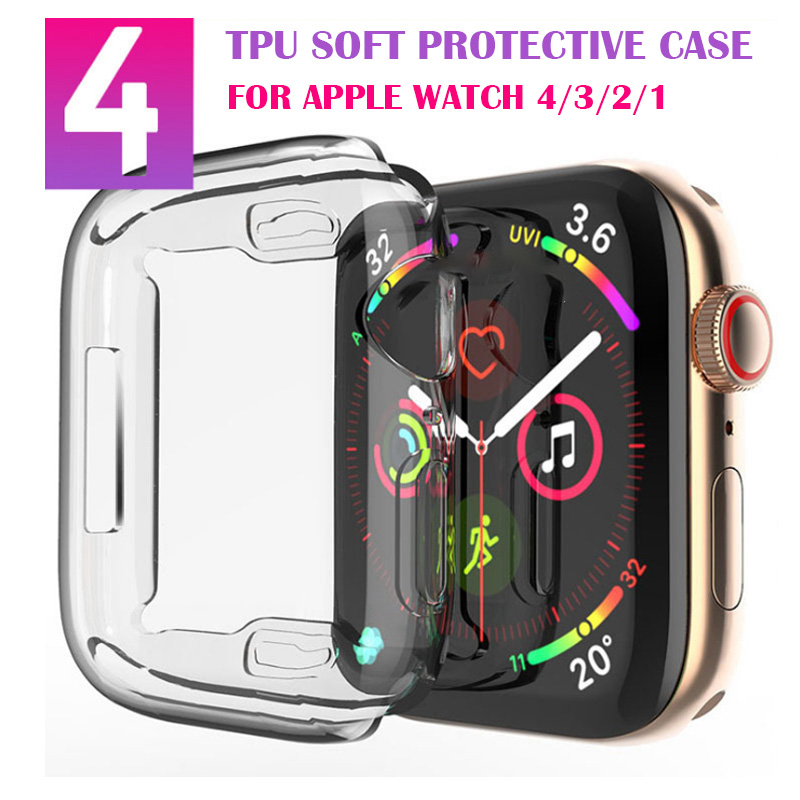 Screen Protector For Apple Watch Series 4 44MM 40MM 360 Slim Watch Cover For Apple Watch 3 42MM 38MM Case