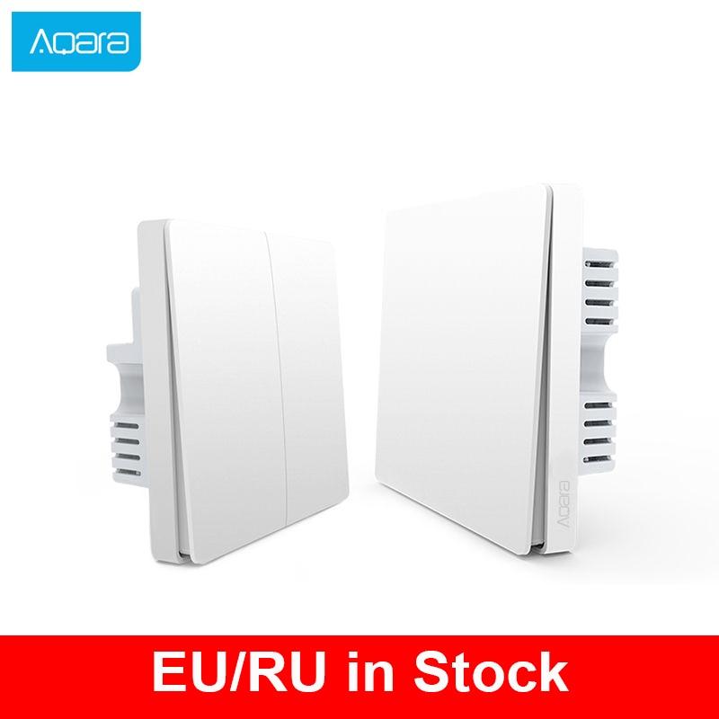 Aqara Smart Switch Light Remote Control ZiGBee wifi Wireless Key Wall Switch Smart Home work for