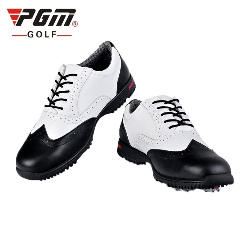 Pgm Mens British Style Leather Golf Shoes Mens Waterproof Golf Shoes Outdoor Anti-Skid Breathable Lightweight Sneakers AA51034Pgm Mens British Style Leather Golf Shoes Mens Waterproof Golf Shoes Outdoor Anti-Skid Breathable Lightweight Sneakers AA51034
