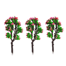 8cm colorful model flower miniature trees HO N scale for train railway scenery layout 30pcs lot 2018 colorful ho n oo architectural scale model abs plastic green trees 3 10cm model train landscape tree layout