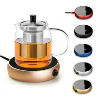 Portable Electric Heater Desktop Heating Coasters Water Coffee Milk Tea Warmer Heater Cup Mug Warming Trays For Office Home