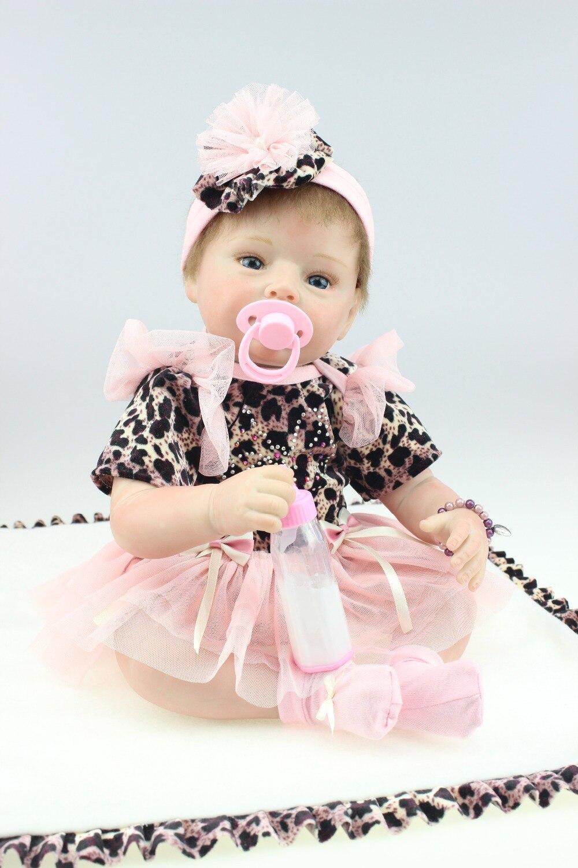 Child sex dolls 55cm brazilian implanted hair vinyl magnet pacifier Silicone adora Lifelike  child love sex toy Bonecas Bebe