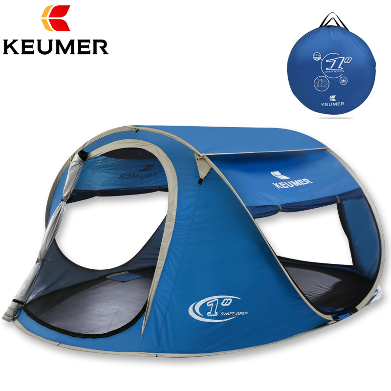 pop up fully automatic open 4 person 3 season anti rain fishing beach hiking outdoor camping family picnic tent alpika 3 4 person 2 layer 1 bedroom 1 living room anti rain wind proof frp rod party hiking fishing beach outdoor camping tent