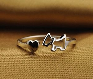 1PCS New Lady Trendy Ring Finger Opening Adjustable Dog Rings Women Fashion Jewelry