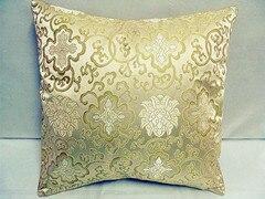 Винтажная квадратная большая подушка для дивана, стула, автомобиля, Высококачественная декоративная шелковая парчовая Подушка для спины 40x40 43x43 40x50 50x50 60x60 см - Цвет: Цвет: желтый