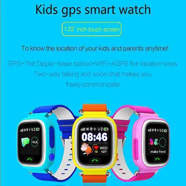 GPS Q90 Touch Screen WIFI Positioning Smart Watch Children SOS Call Location Finder Device Tracker Kid Safe Anti Lost Monitor