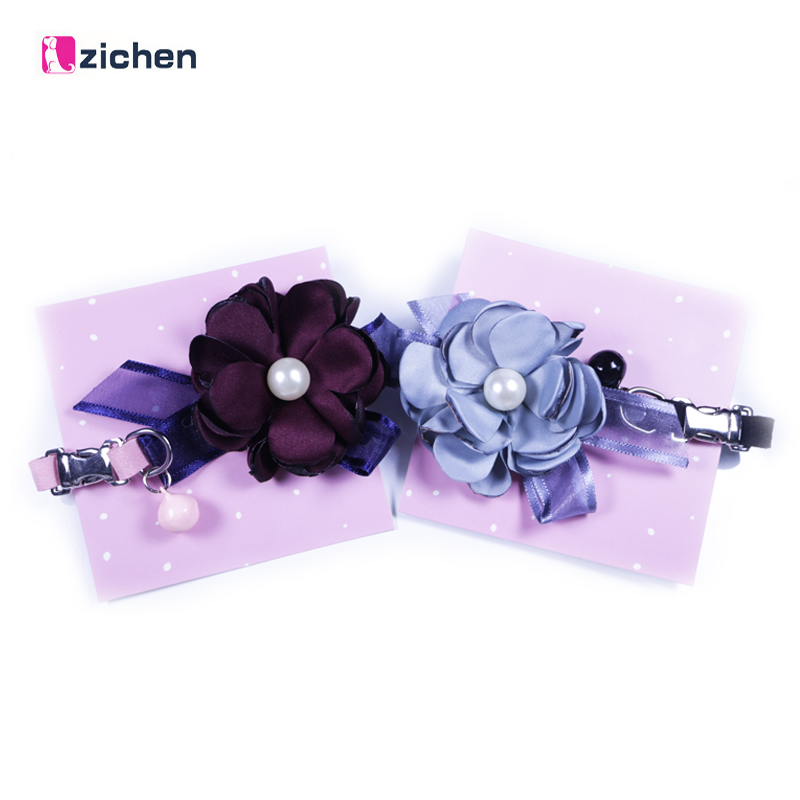 Zichen Pet Dog Collar Puppy Handmade Cute Pooch Neck Teddy Bichon Small for Dog Cat Collars perro Large flower Dropshipping