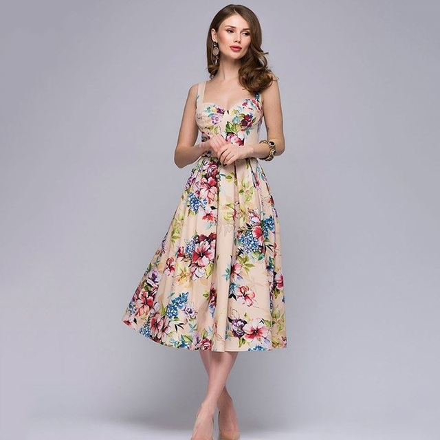 d8536d157574d US $7.02 |2018 new Elegant Women vestidos de festa Fashion Sleeveless  Bohemian A line Dress Women simple party knee length dress-in Dresses from  ...
