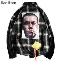 우나 Reta 새로운 도착 남성 셔츠 브랜드 캐주얼 패션 긴 소매 셔츠 남성