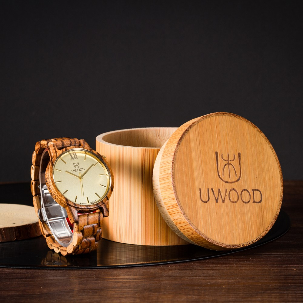 Natural Bamboo Wooden Watch Brand new analog men wood watch slim designer 16 Strap Japanese Quartz Movement Casual Watches 5