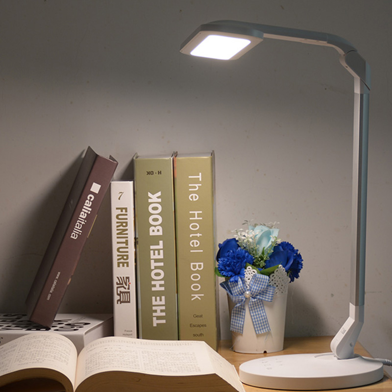 Fonkin Table Lamp Office Desk Light Touch Reading Study Lamp Light Flexible 18W Rechargeable Led Desk Lamp Usb Charging Port 4 level brightness led office table desk lamp touch dimming rechargeable bedside reading light for study engineer architect