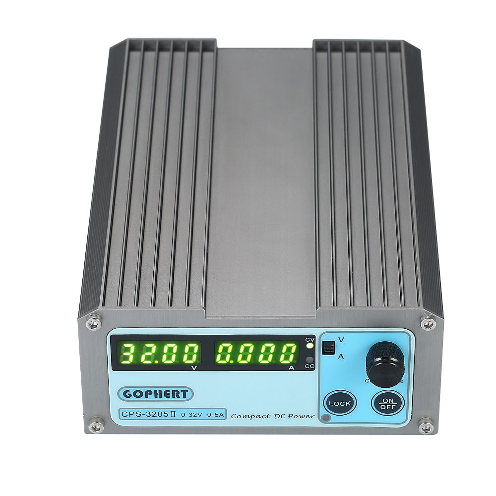 Compact Digital Adjustable DC Power Supply 4 Digits LED CPS-3205 II 160W 0-32V/0-5A Portable Switching Regulated Power SupplyCompact Digital Adjustable DC Power Supply 4 Digits LED CPS-3205 II 160W 0-32V/0-5A Portable Switching Regulated Power Supply