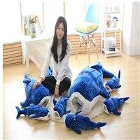 Fancytrader 150 см Jumbo плюшевая игрушка Животное Игрушечный КИТ плюшевый большой игрушечный синий кит большой хороший подарок бесплатная доставка