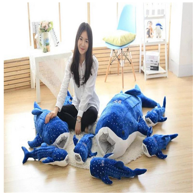 Fancytrader 150cm Jumbo Stuffed Soft Animal Whale Doll Plush Large Bluewhale Toy Big Nice Gift Free Shipping stuffed simulation animal snake anaconda boa plush toy about 280cm doll great gift free shipping w004