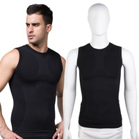 1 Pcs Mens Cool Sports Vest Workout Gym Exercise Fitness Cool Black Vest
