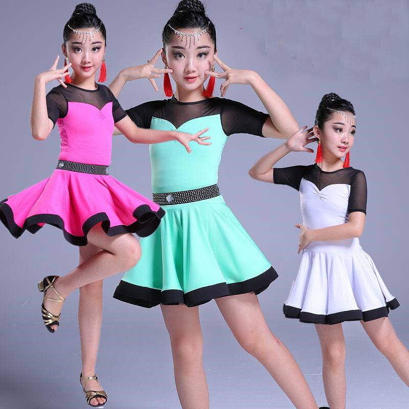 Girl Latin Dance Dress Children Ballroom Dance Dresses Kids Kid Salsa Rumba Cha Cha Samba Tango Standard Competition Latin Dress