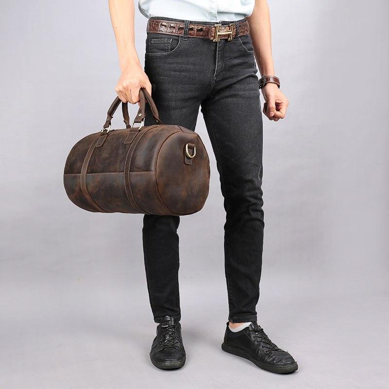 2018 пояса из натуральной кожи для мужчин дорожные сумки вести багажные сумки Duffle сумки Дорожная сумка большой выходные