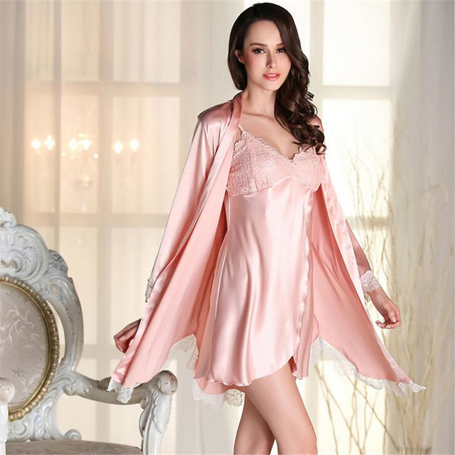 Women Dress Robes For Batas Para Mujer Pijama  Modal Robe Set For Women Ladies Nightgown Suit Sexy Hot Slaes Bathrobe