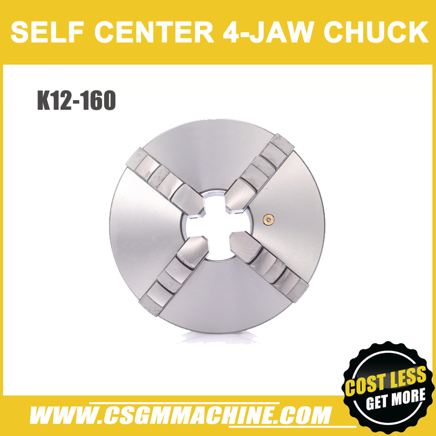 K12 160 4 jaw chuck 160MM manual lathe chuck 4 Jaw Self centering Chuck