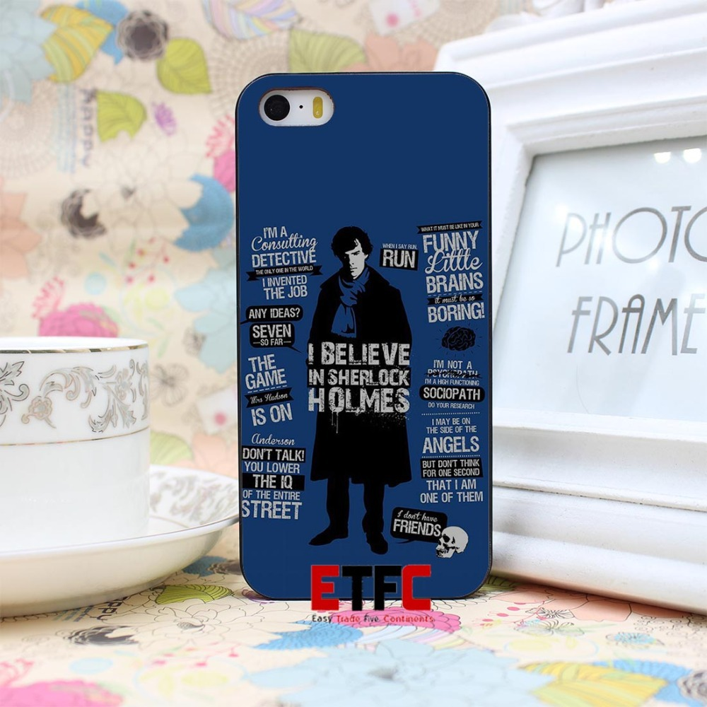 ETFC-367 Sherlock quotes moriarty quote Detective Sherlock Holmes Design Hard Black Skin Case Cover for iPhone 4 4s 4g 5 5s 5g